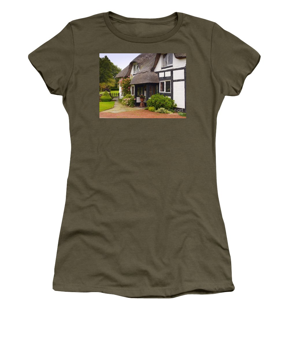 Thatched Cottage Women's T-Shirt featuring the photograph Thatched Cottage by John Chatterley