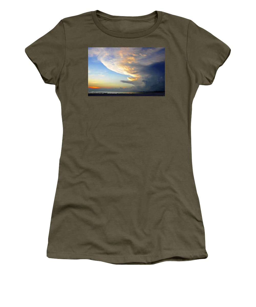 Art Women's T-Shirt featuring the painting The Beach Walker by David Lee Thompson