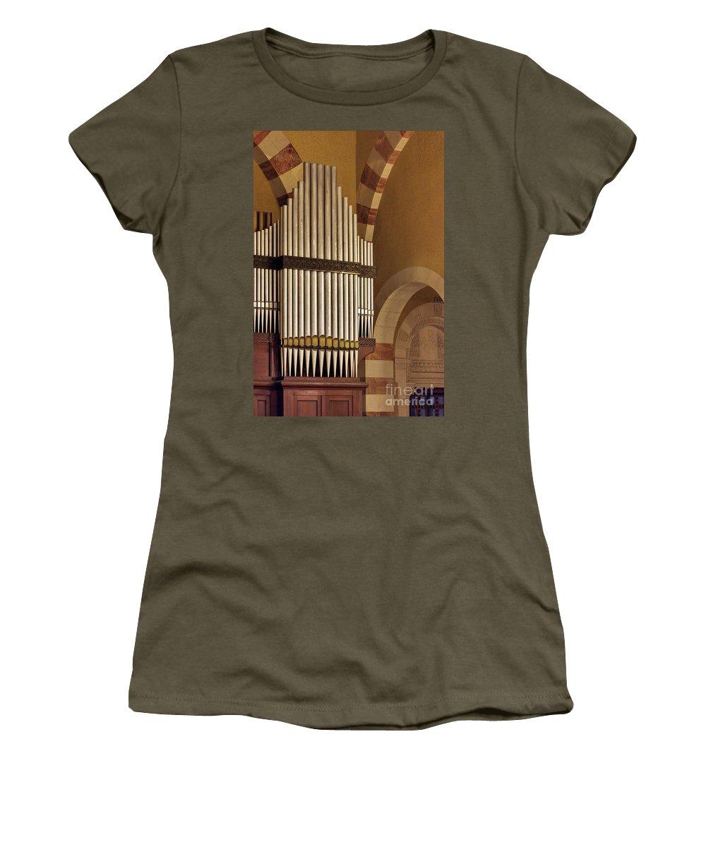 Psi Women's T-Shirt featuring the photograph the Organ Augusta Victoria Jerusalem by Vladi Alon