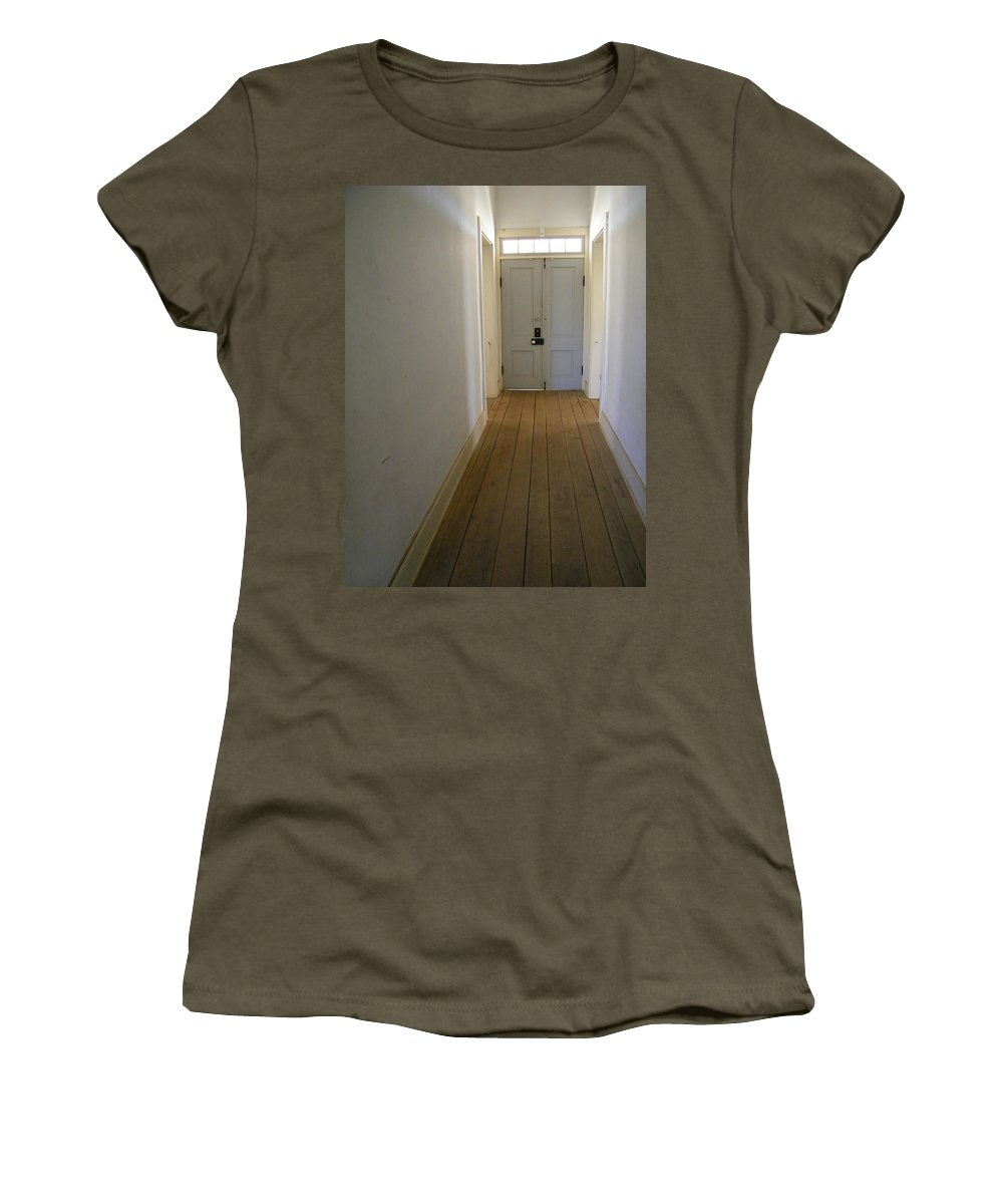 Door Women's T-Shirt featuring the photograph The Way Out by Gale Cochran-Smith