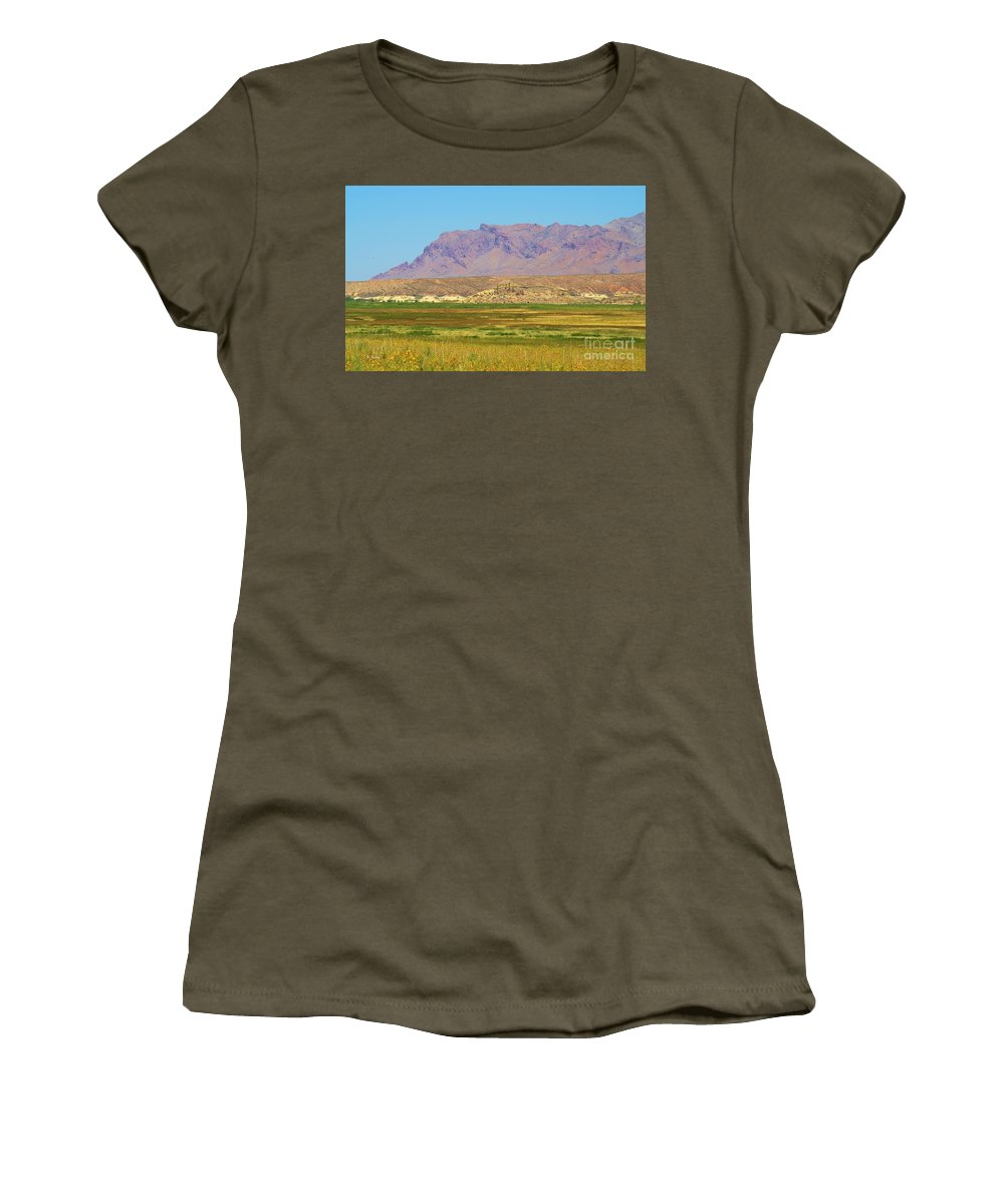 Roena King Women's T-Shirt featuring the photograph This Once Was A Lake by Roena King