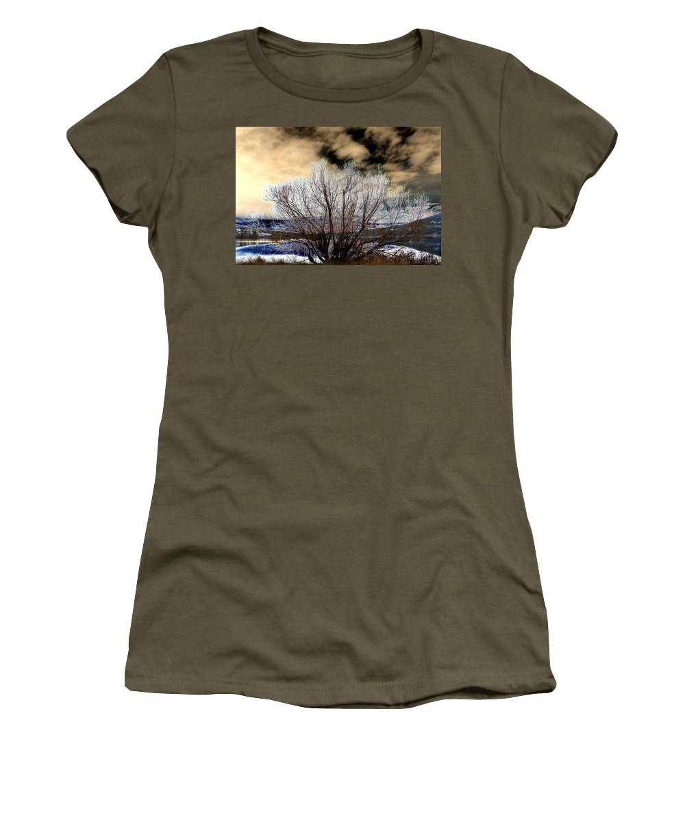Touch Of Frost Women's T-Shirt featuring the digital art Touch Of Frost by Will Borden