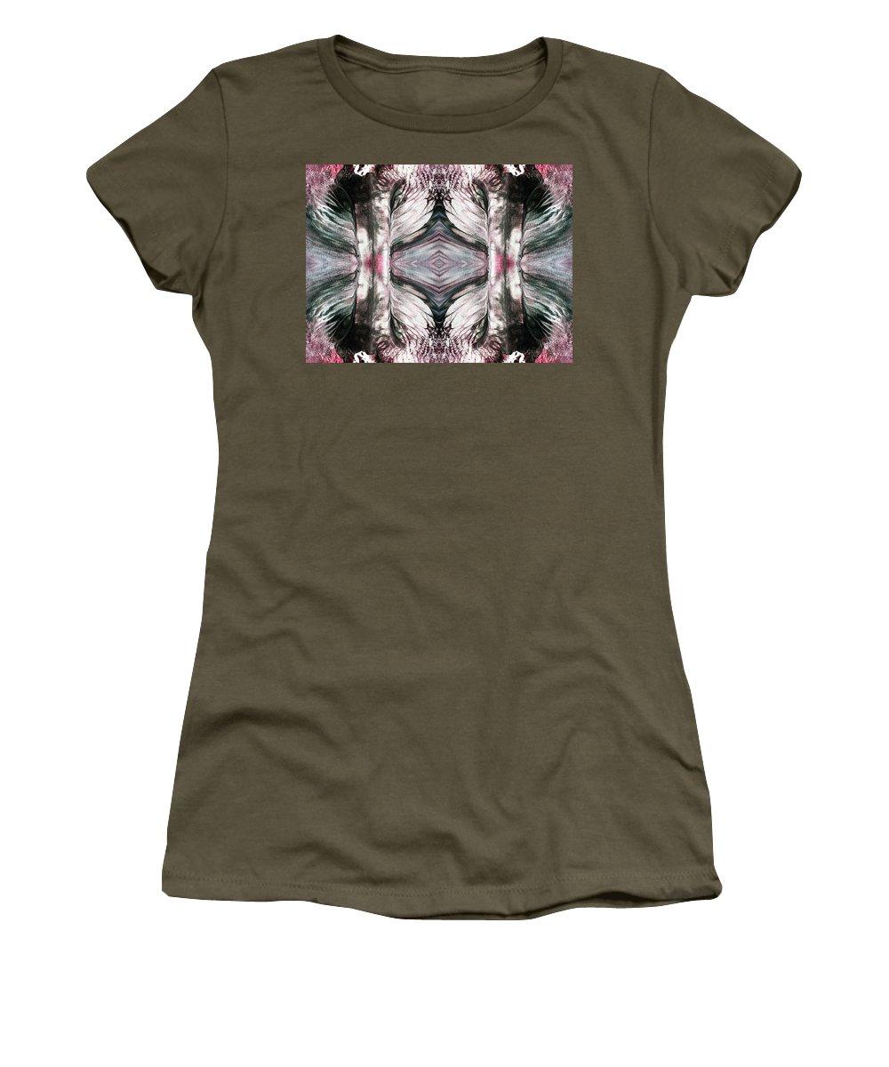 Digital Art Women's T-Shirt featuring the digital art Tree Of Life Love And Death by Sumit Mehndiratta