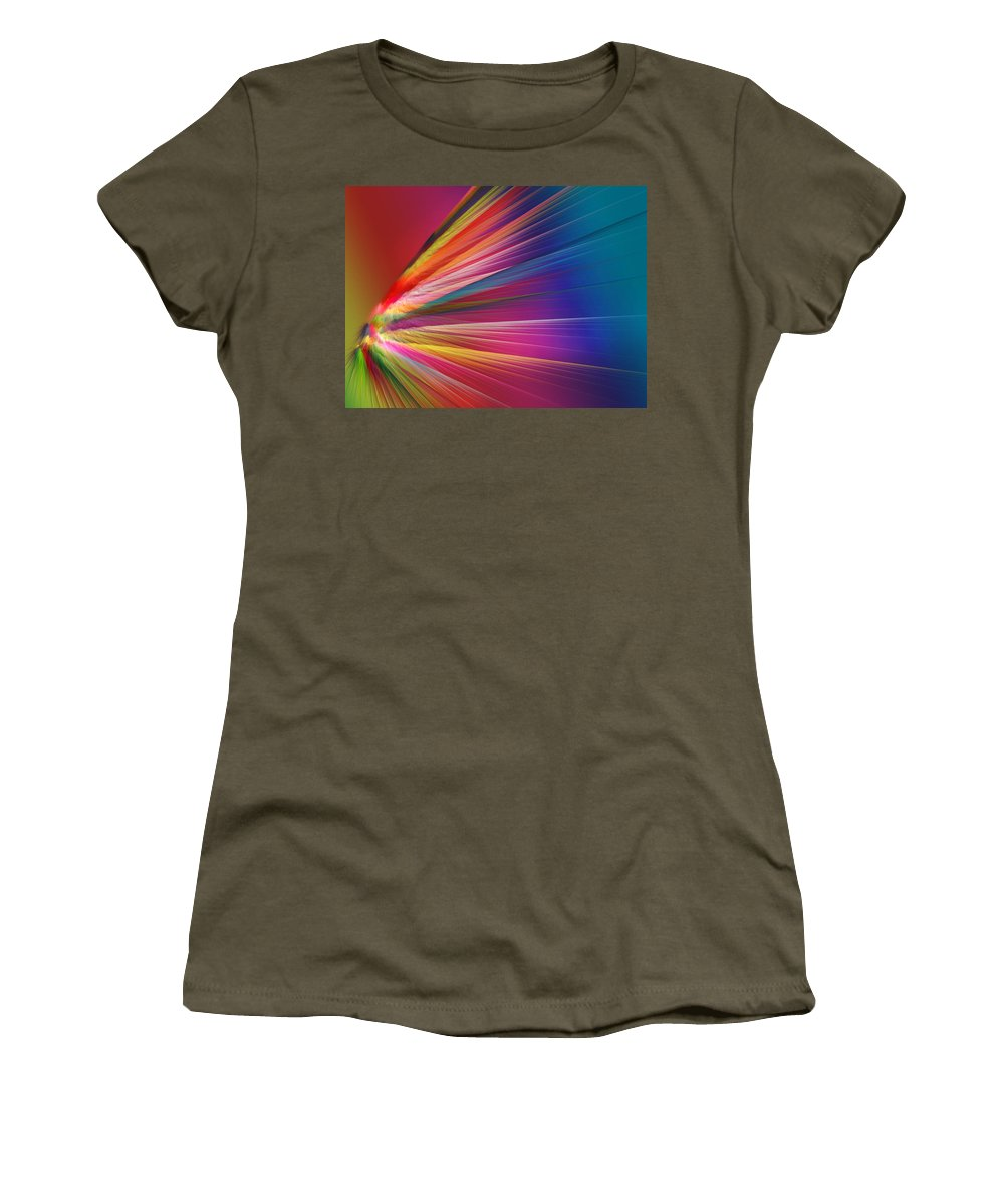 Spectrum Women's T-Shirt featuring the digital art Velocity by Betsy Knapp
