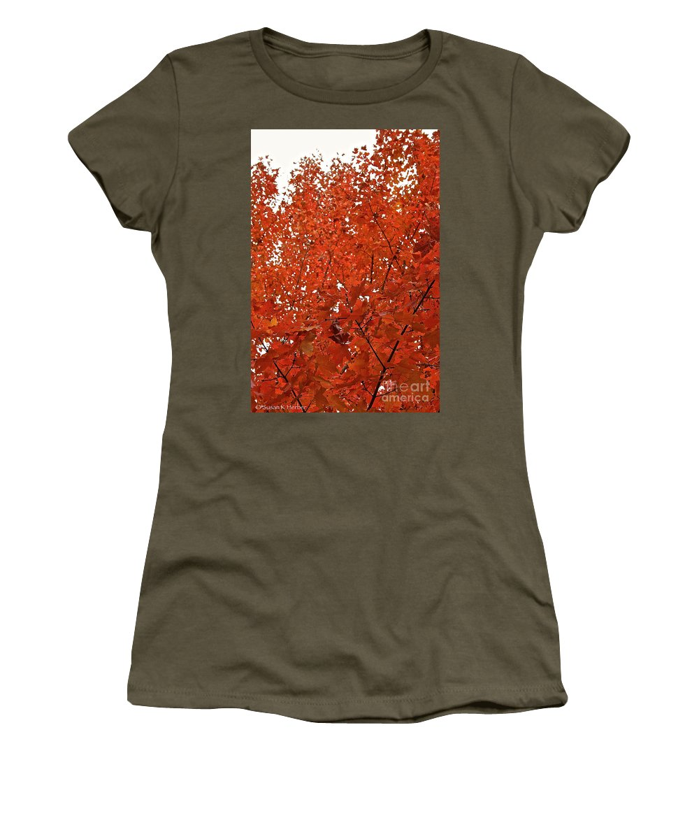 Outdoors Women's T-Shirt featuring the photograph Vividly Sugar Maple by Susan Herber