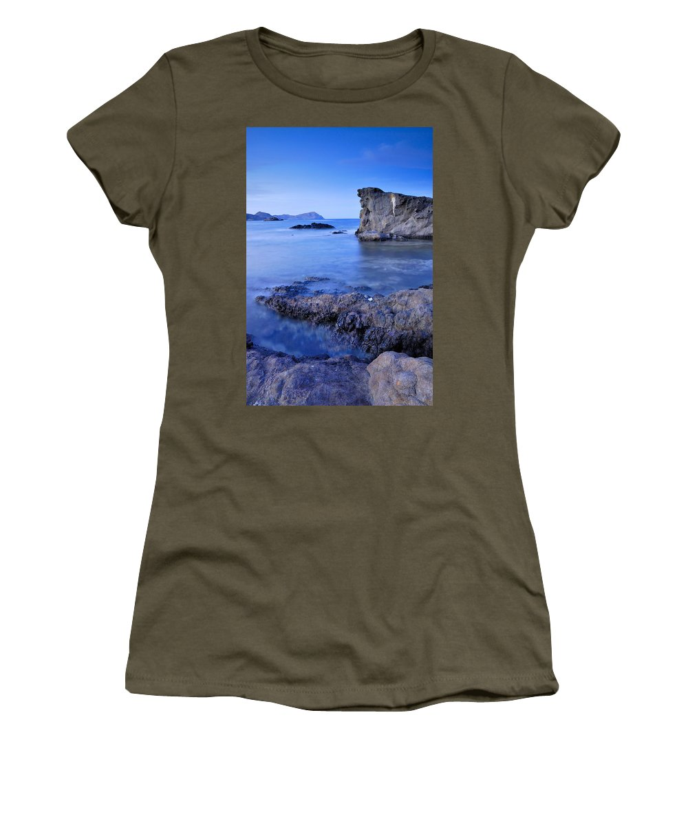 Seascape Women's T-Shirt featuring the photograph Volcanic Reef by Guido Montanes Castillo