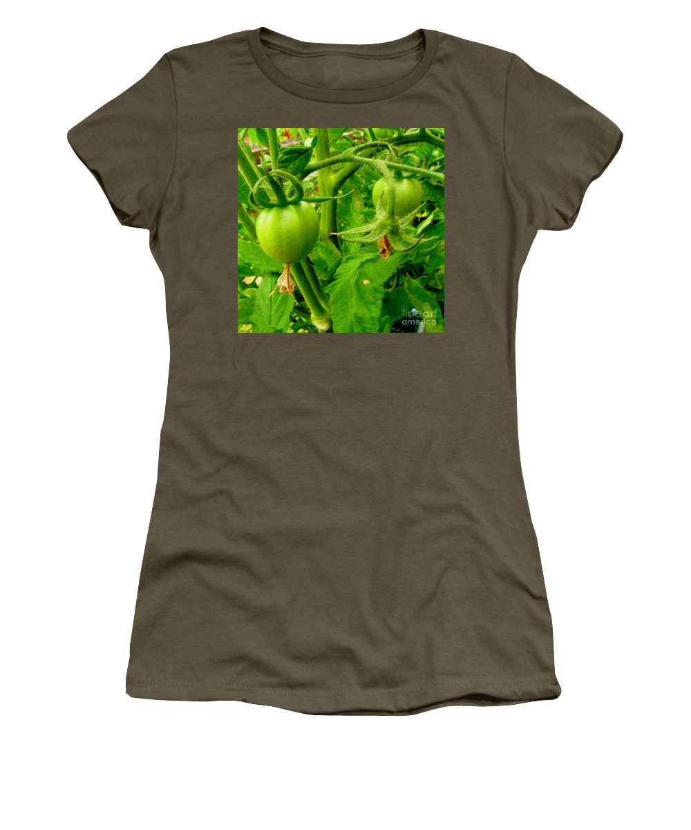 Gardening Women's T-Shirt featuring the photograph Waiting For The Harvest by Rory Sagner