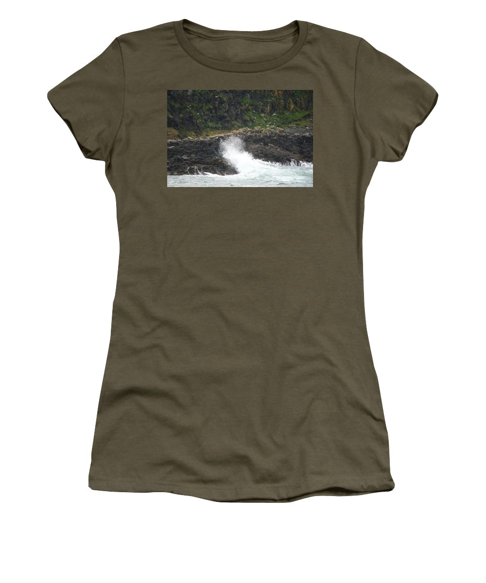 Wave Women's T-Shirt featuring the photograph Water 0001 by Carol Ann Thomas