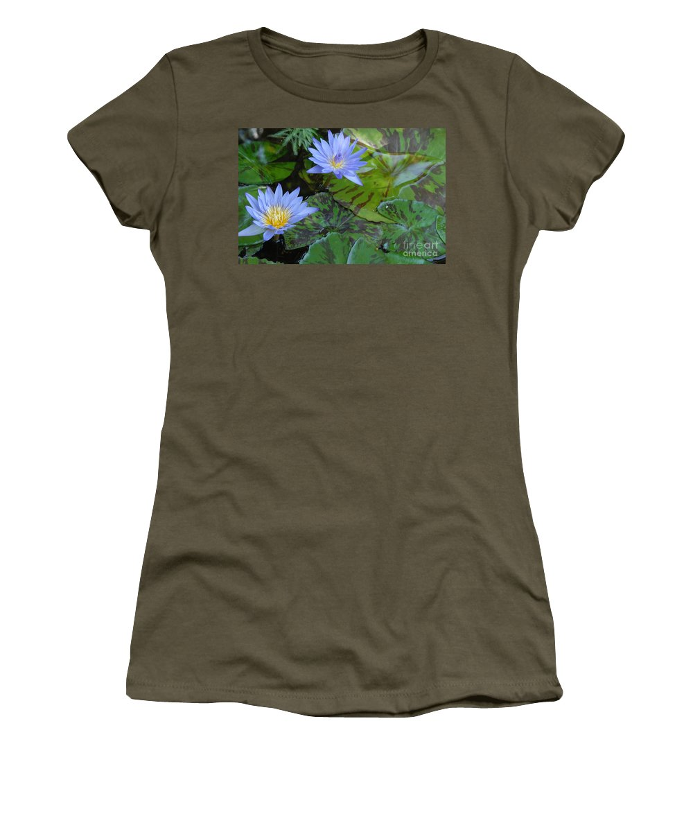 Water Lilies Women's T-Shirt featuring the photograph Water Lilies by Melody Jones