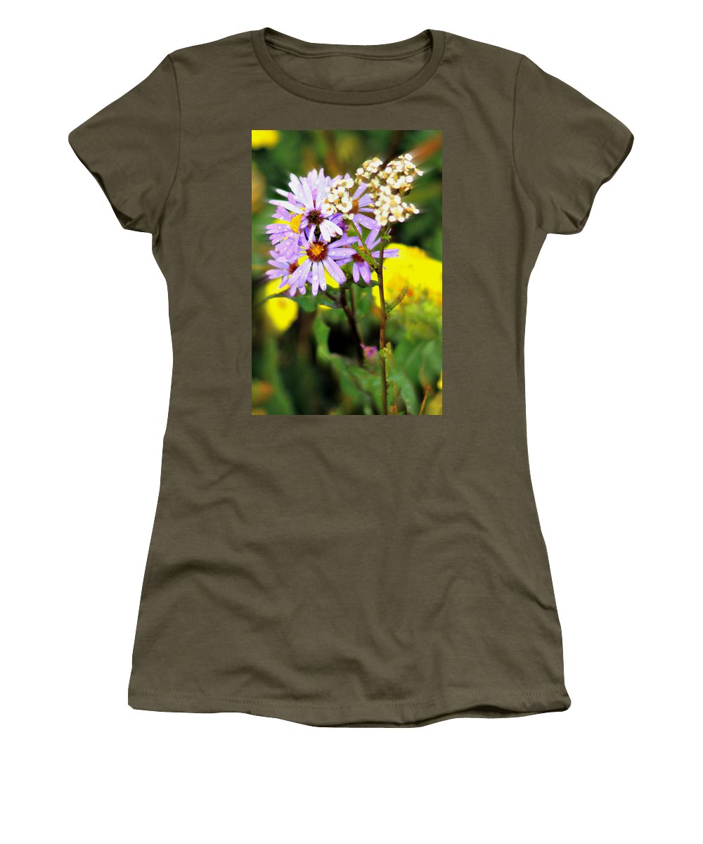 Flower Women's T-Shirt (Athletic Fit) featuring the photograph Wild Floral by Marty Koch