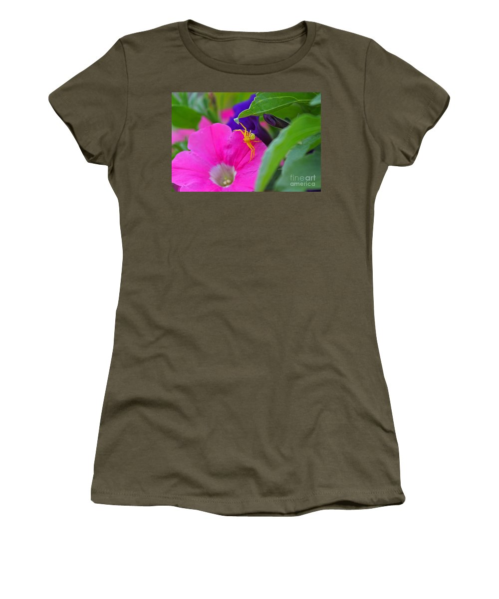 Bugs Women's T-Shirt featuring the photograph Yellow Spider by Randy Harris
