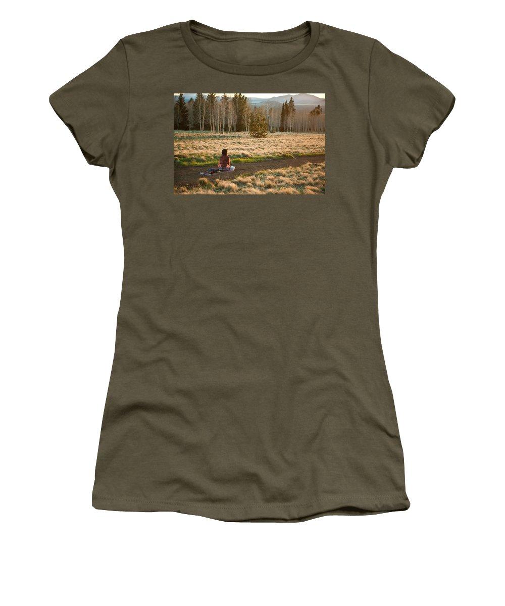 Meditation Women's T-Shirt featuring the photograph Contemplative Meditation by Scott Sawyer