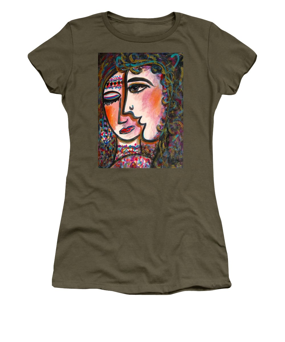Lovers Women's T-Shirt (Athletic Fit) featuring the painting Lovers by Natalie Holland