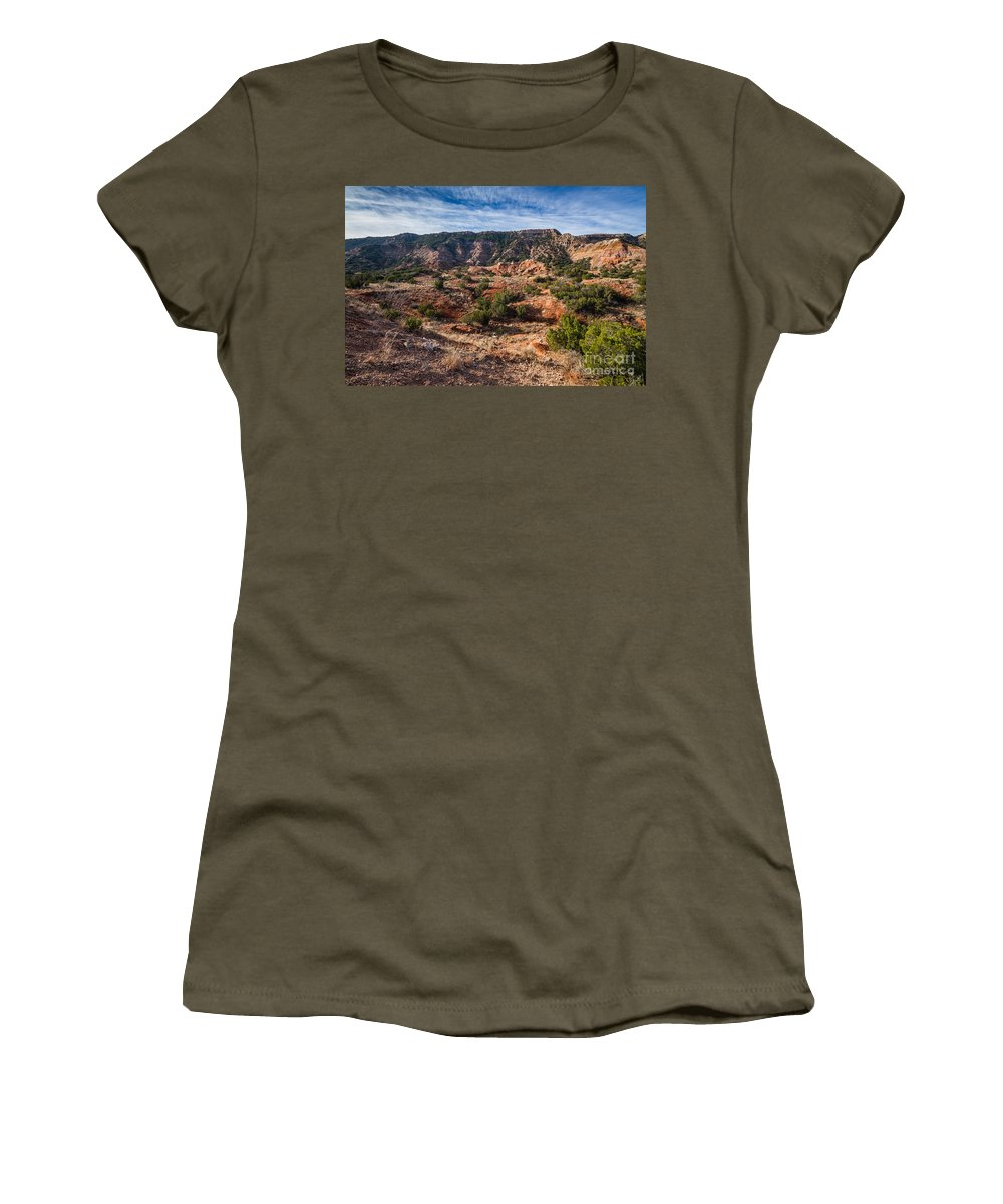 Palo Duro Canyon Women's T-Shirt (Athletic Fit) featuring the photograph 030715 Palo Duro Canyon 025 by Ashley M Conger