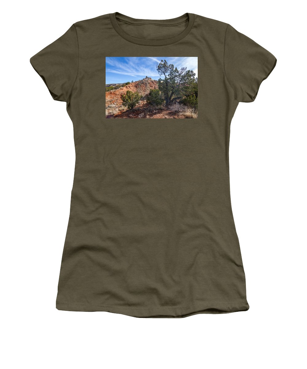 Palo Duro Canyon Women's T-Shirt (Athletic Fit) featuring the photograph 030715 Palo Duro Canyon 043 by Ashley M Conger