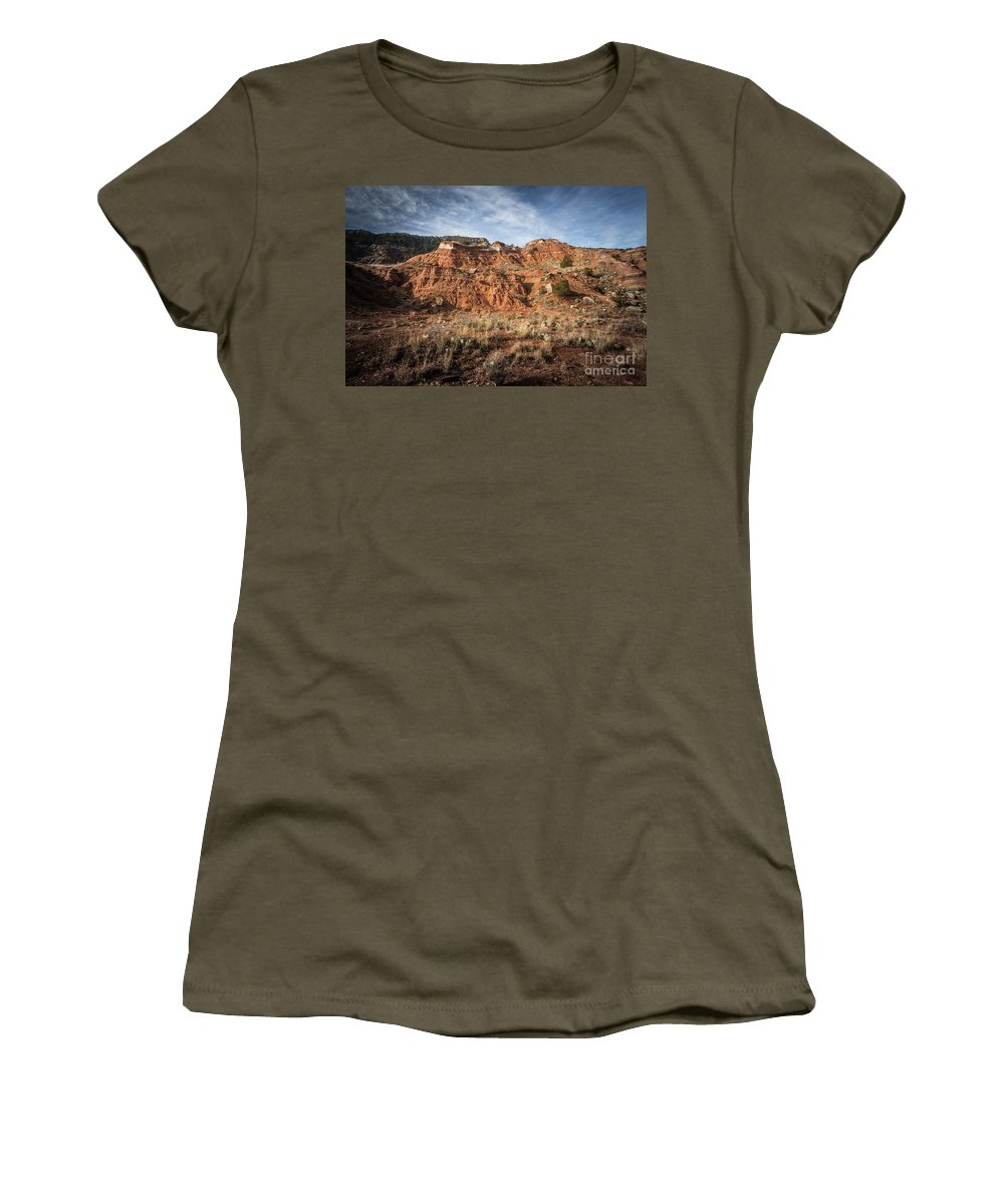 Palo Duro Canyon Women's T-Shirt (Athletic Fit) featuring the photograph 030715 Palo Duro Canyon 047 by Ashley M Conger