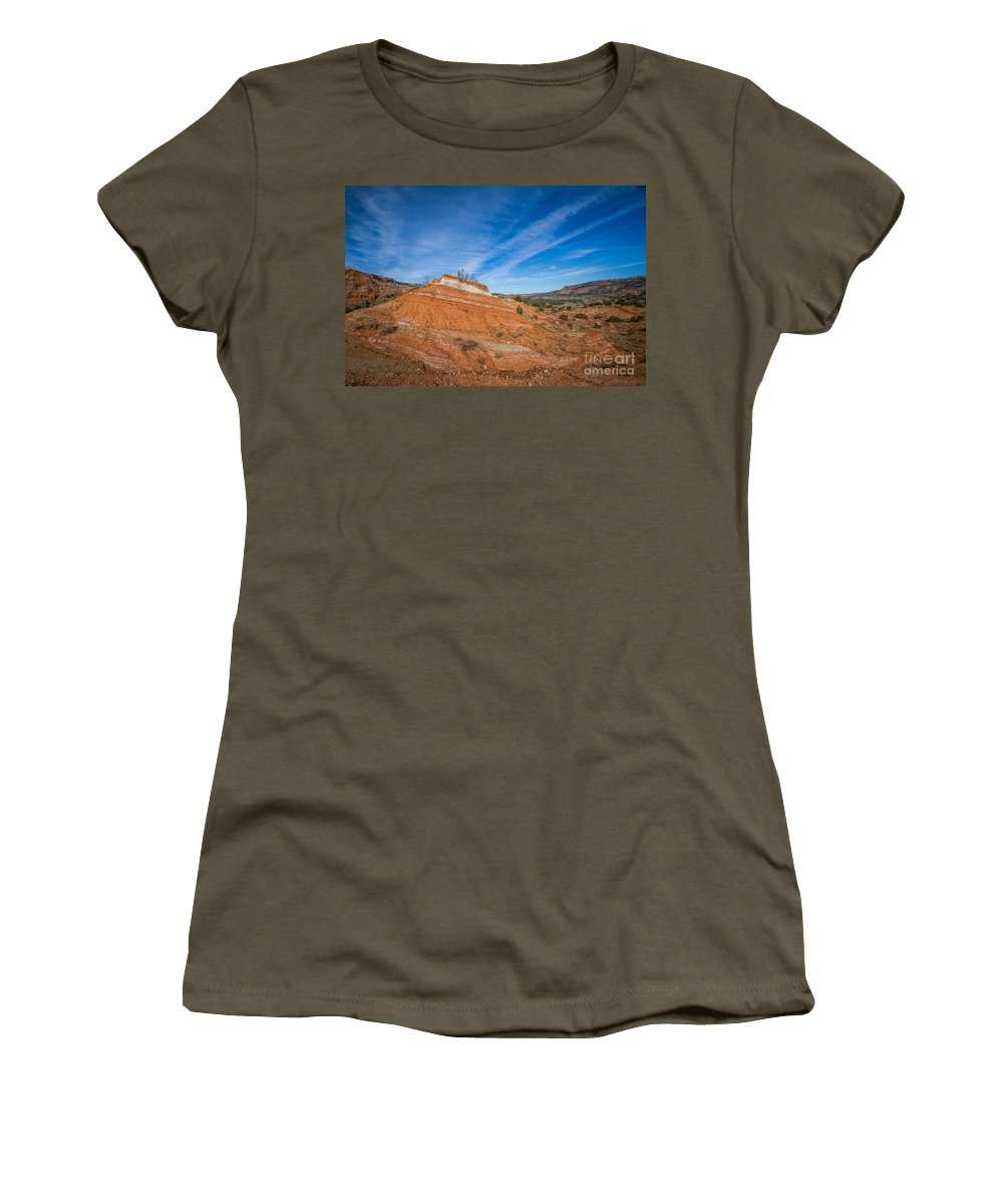 Palo Duro Canyon Women's T-Shirt featuring the photograph 030715 Palo Duro Canyon 054 by Ashley M Conger