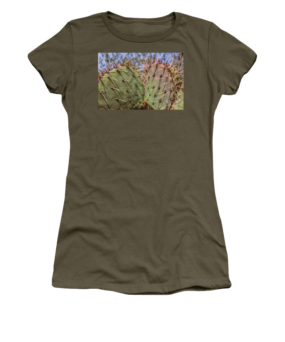 Palo Duro Canyon Women's T-Shirt (Athletic Fit) featuring the photograph 030715 Palo Duro Canyon 070 by Ashley M Conger
