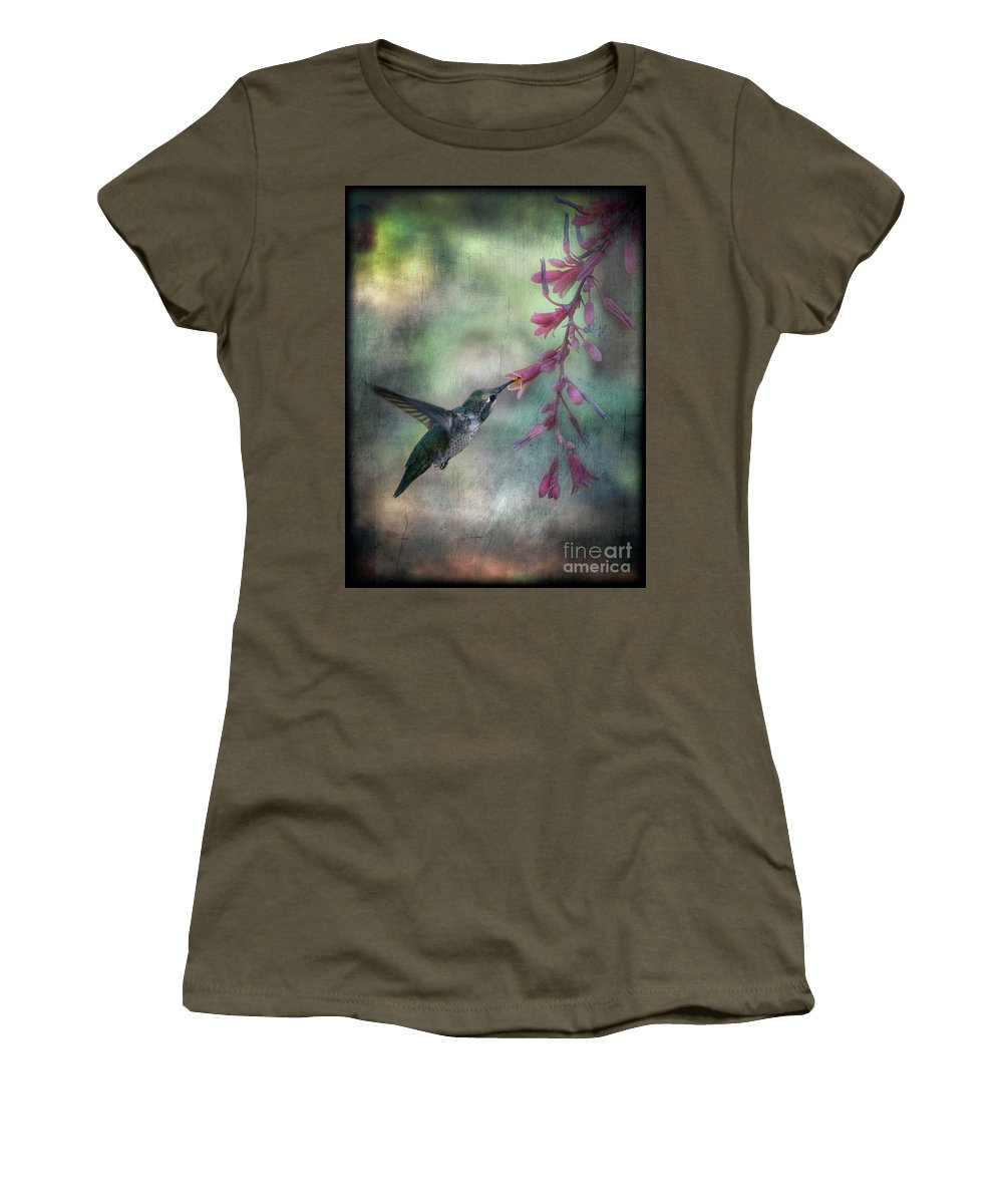 Anna's Hummingbird Women's T-Shirt featuring the photograph Anna's Hummingbird by Saija Lehtonen