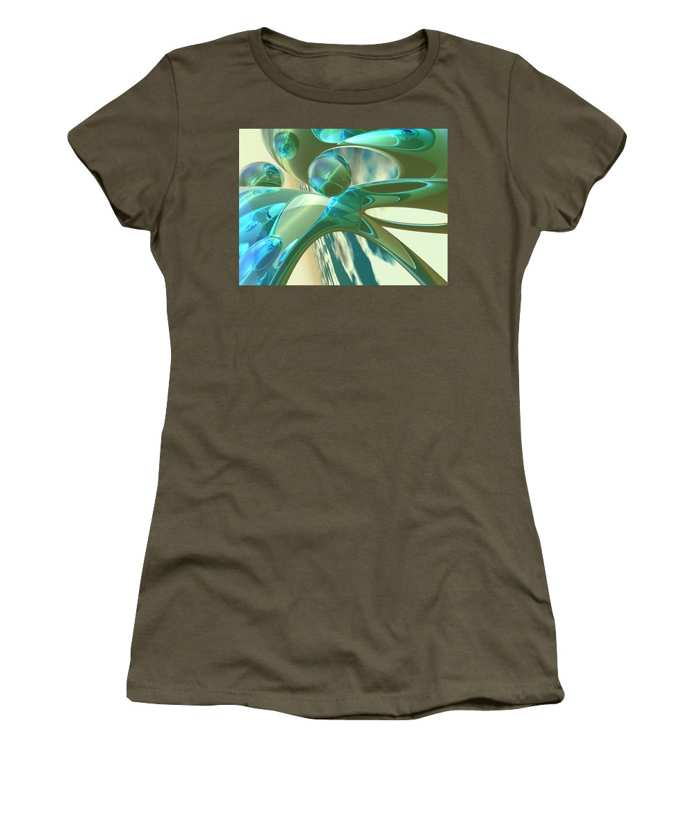 Scott Piers Women's T-Shirt (Athletic Fit) featuring the painting Ashton by Scott Piers