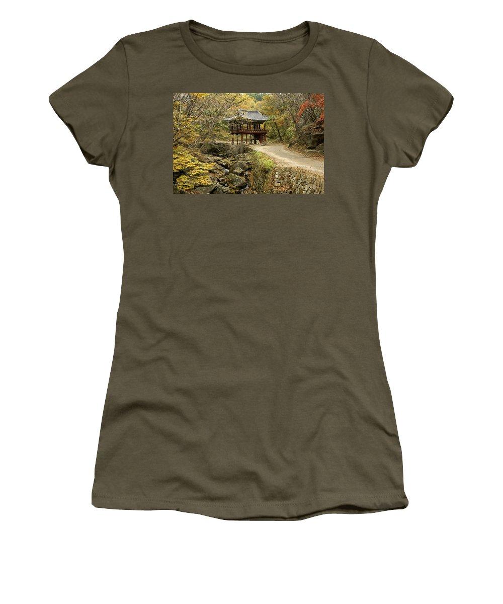 Korea Women's T-Shirt featuring the photograph Autumn At Seonamsa by Michele Burgess