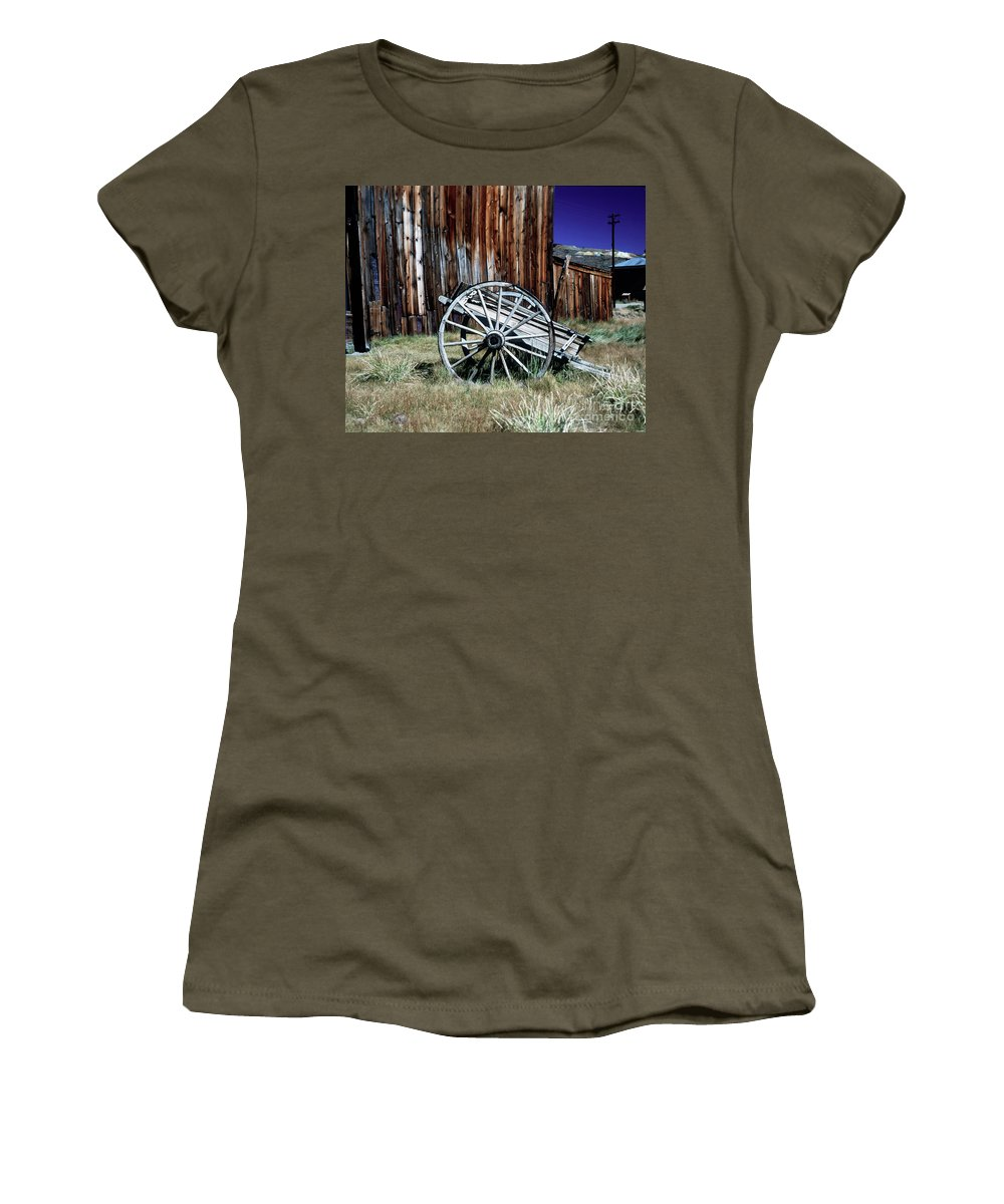 Bodie Women's T-Shirt (Athletic Fit) featuring the photograph Bodie Wagon by Jim And Emily Bush
