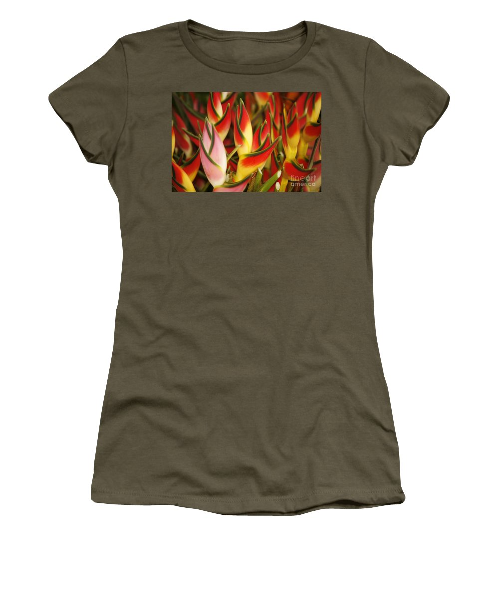 Beautiful Women's T-Shirt featuring the photograph Bunch Of Heliconia by Ron Dahlquist - Printscapes