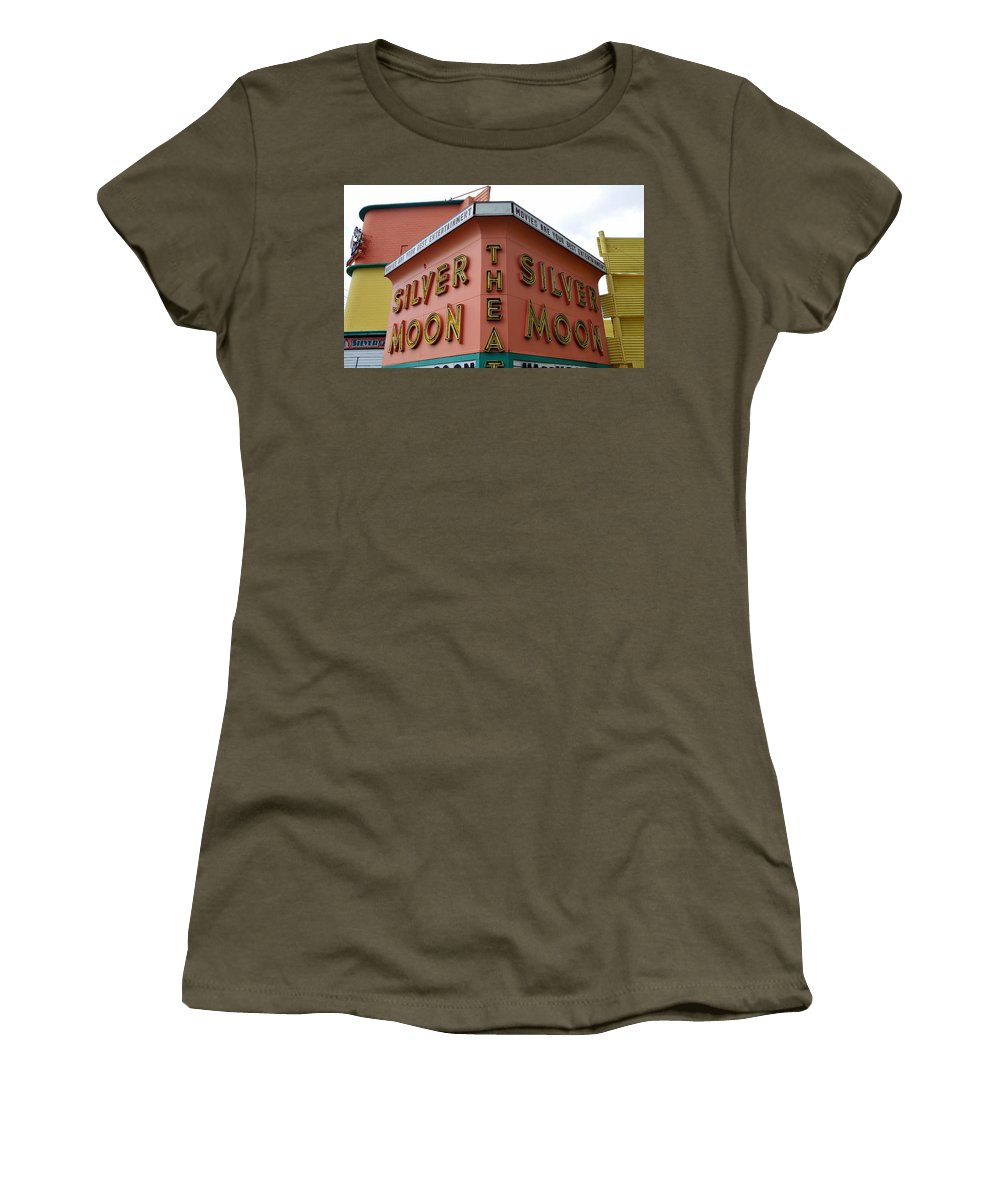Fine Art Photography Women's T-Shirt featuring the photograph Classic Drive In by David Lee Thompson