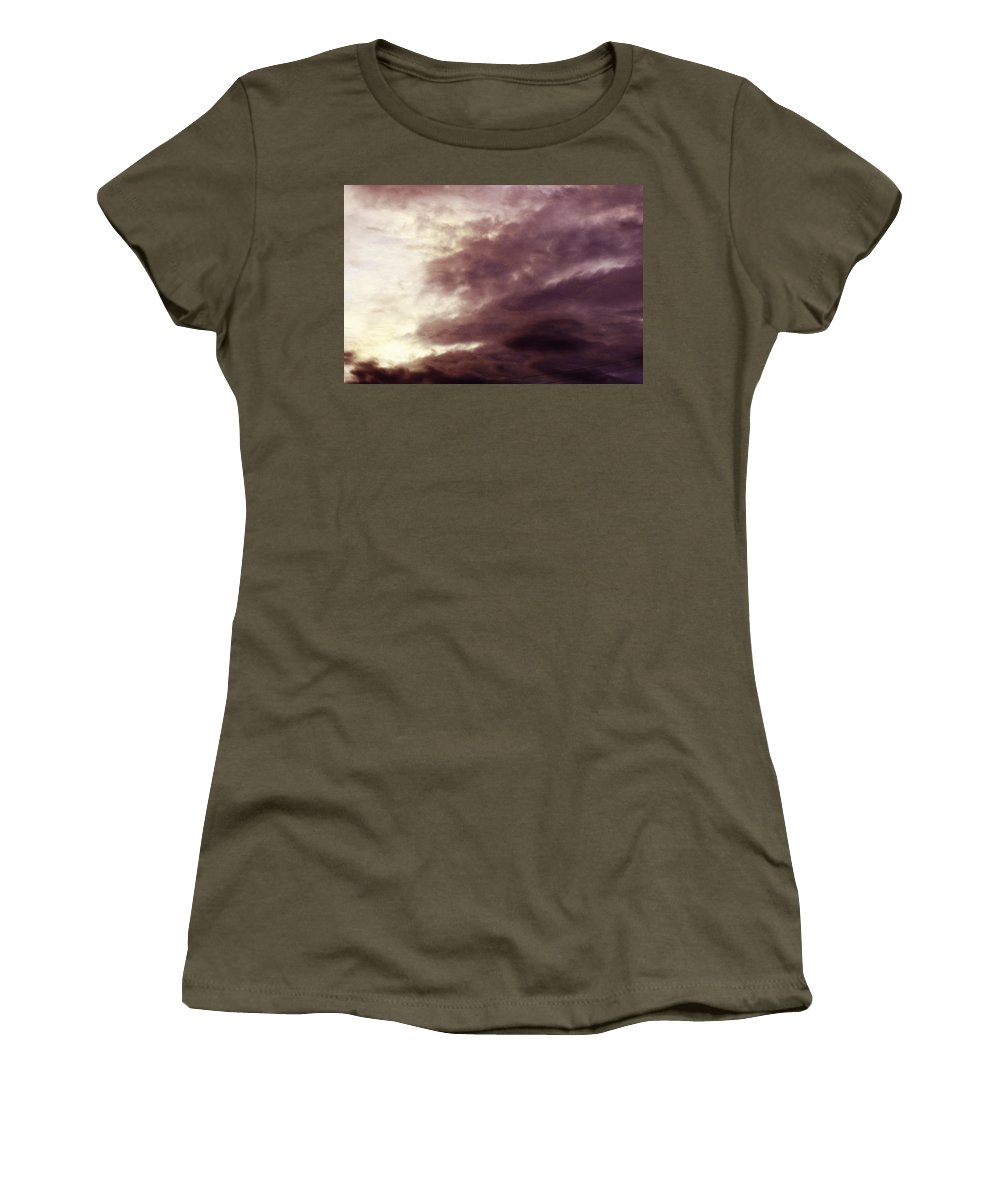 Clay Women's T-Shirt (Athletic Fit) featuring the photograph Clouds by Clayton Bruster