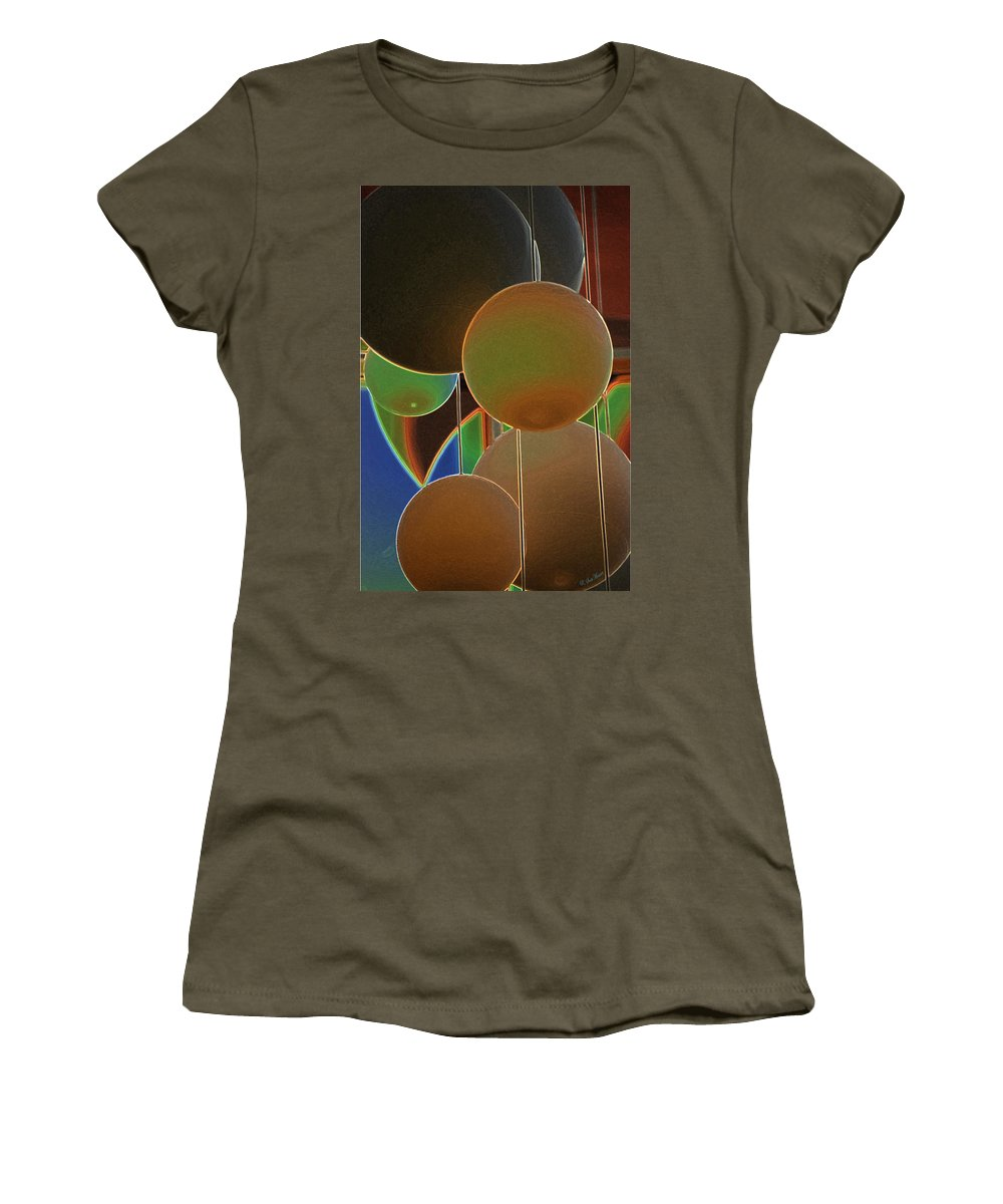 Colored Bubbles Women's T-Shirt (Athletic Fit) featuring the photograph Colored Bubbles by Robert Meanor