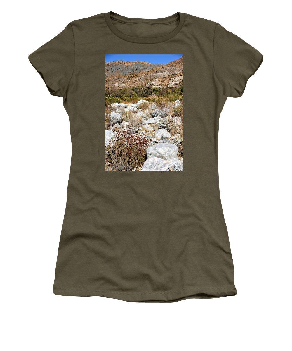 Desert Landscape Women's T-Shirt featuring the photograph Desert Landscape by Lisa Dunn