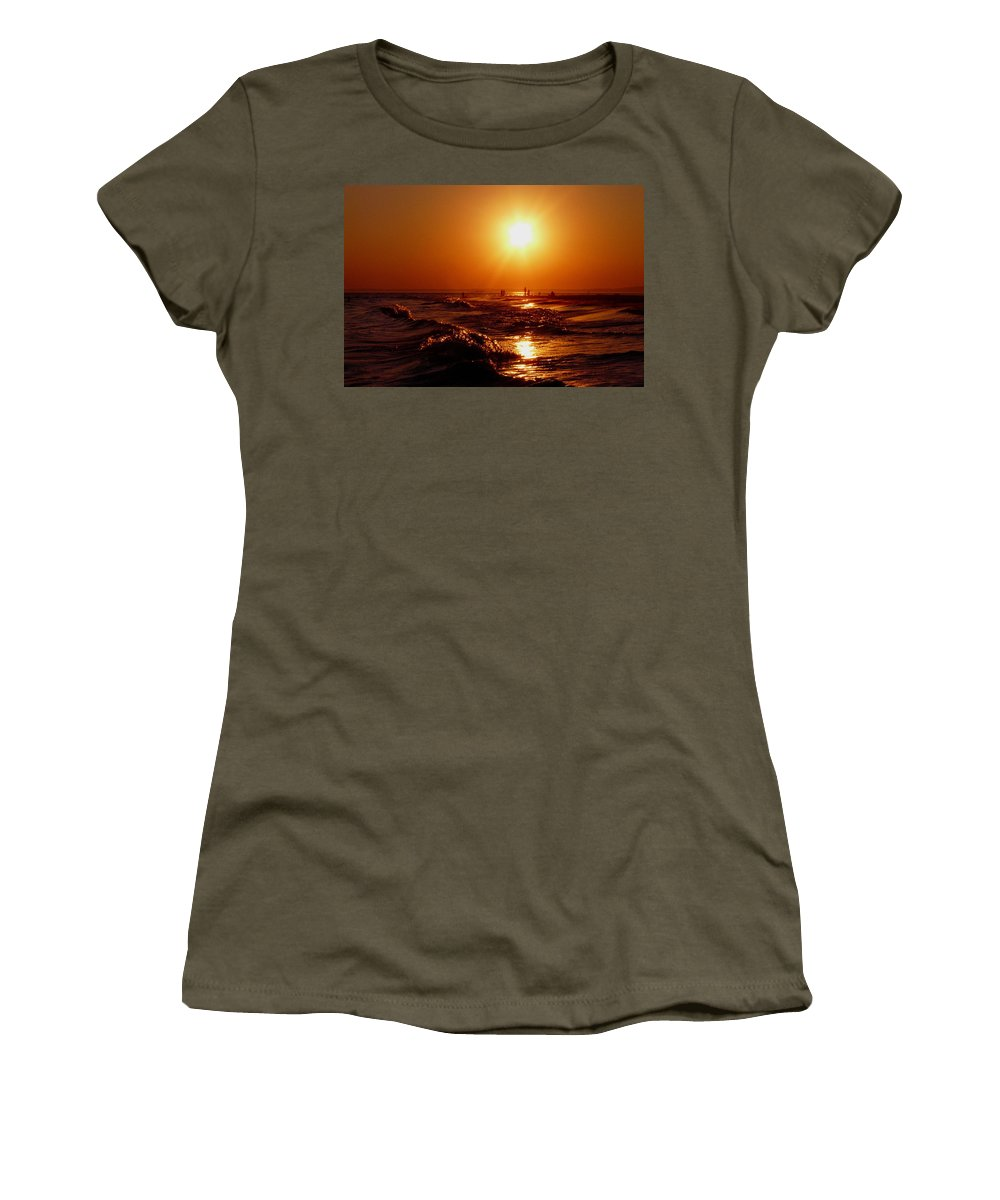 Sunset Women's T-Shirt (Athletic Fit) featuring the photograph Extreme Blazing Sun by Kendall Eutemey