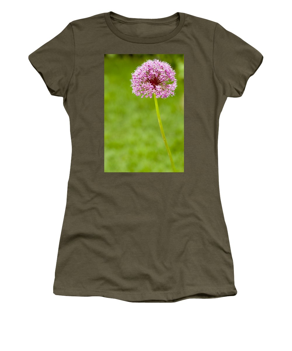 Flower Women's T-Shirt (Athletic Fit) featuring the photograph Flower by Sebastian Musial