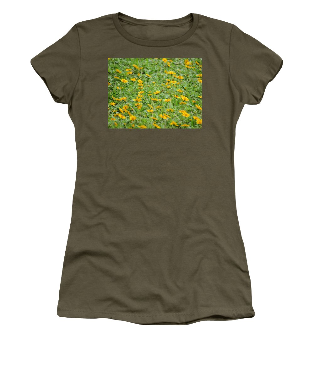 Flowers Women's T-Shirt (Athletic Fit) featuring the photograph Flowers by Philip Wolfkill