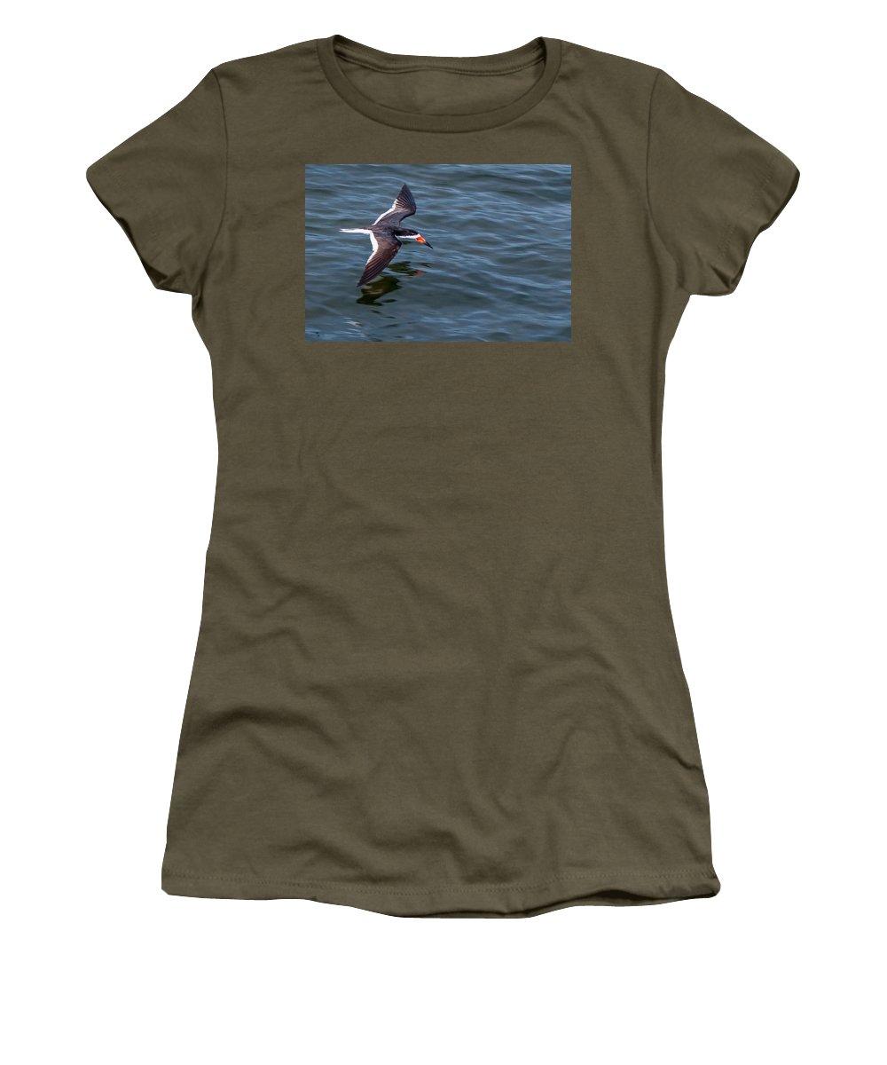 Bird Women's T-Shirt featuring the photograph Flying Low by Mechala Matthews