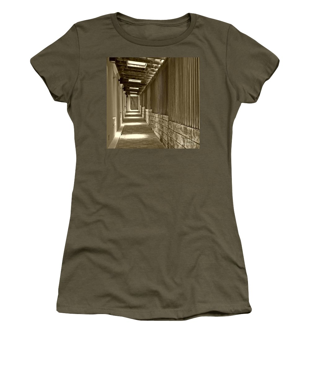 Door Women's T-Shirt featuring the photograph Follow Me by Debbi Granruth