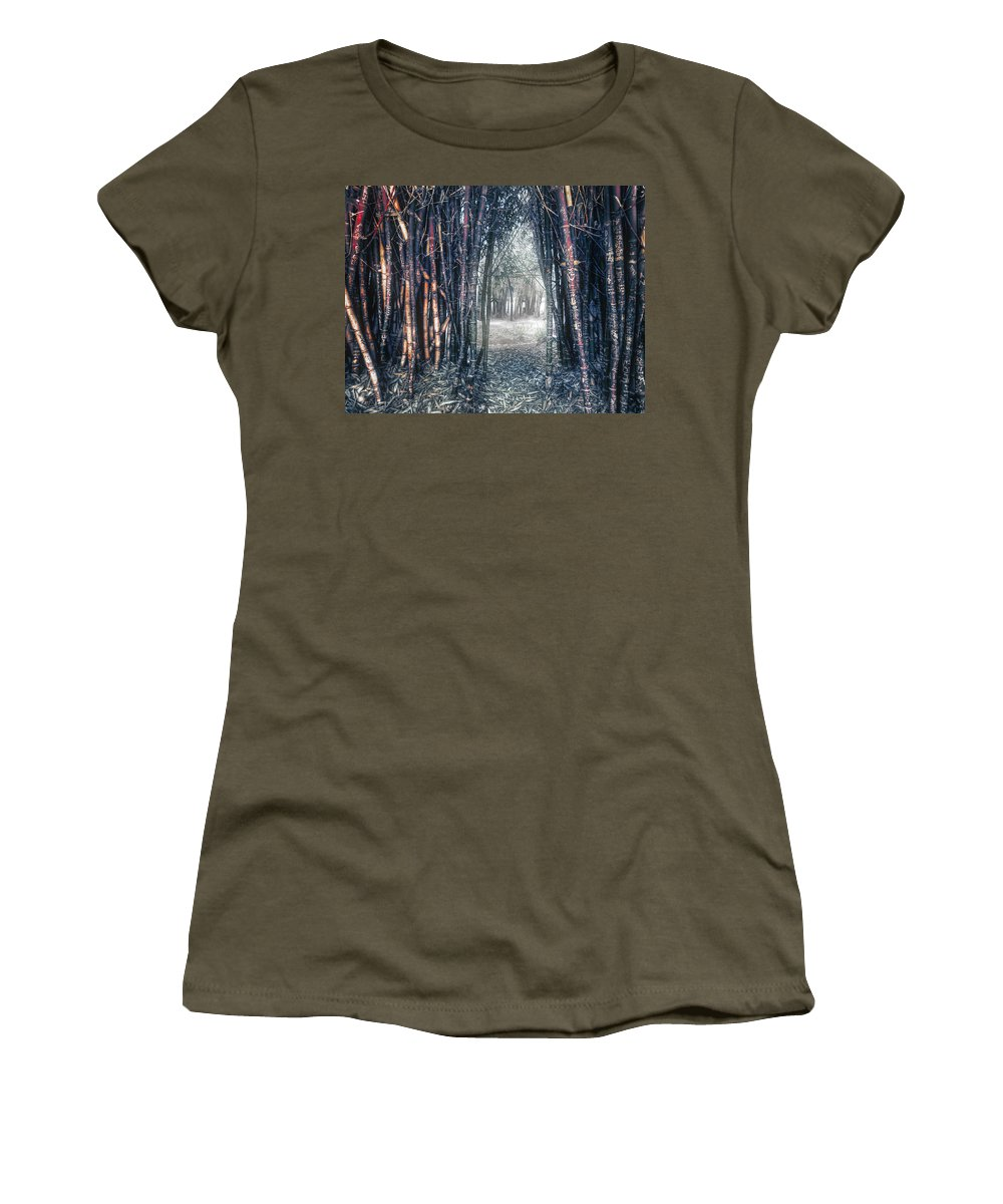 Into The Unknown Women's T-Shirt (Athletic Fit) featuring the photograph Into The Unknown by Wayne Sherriff