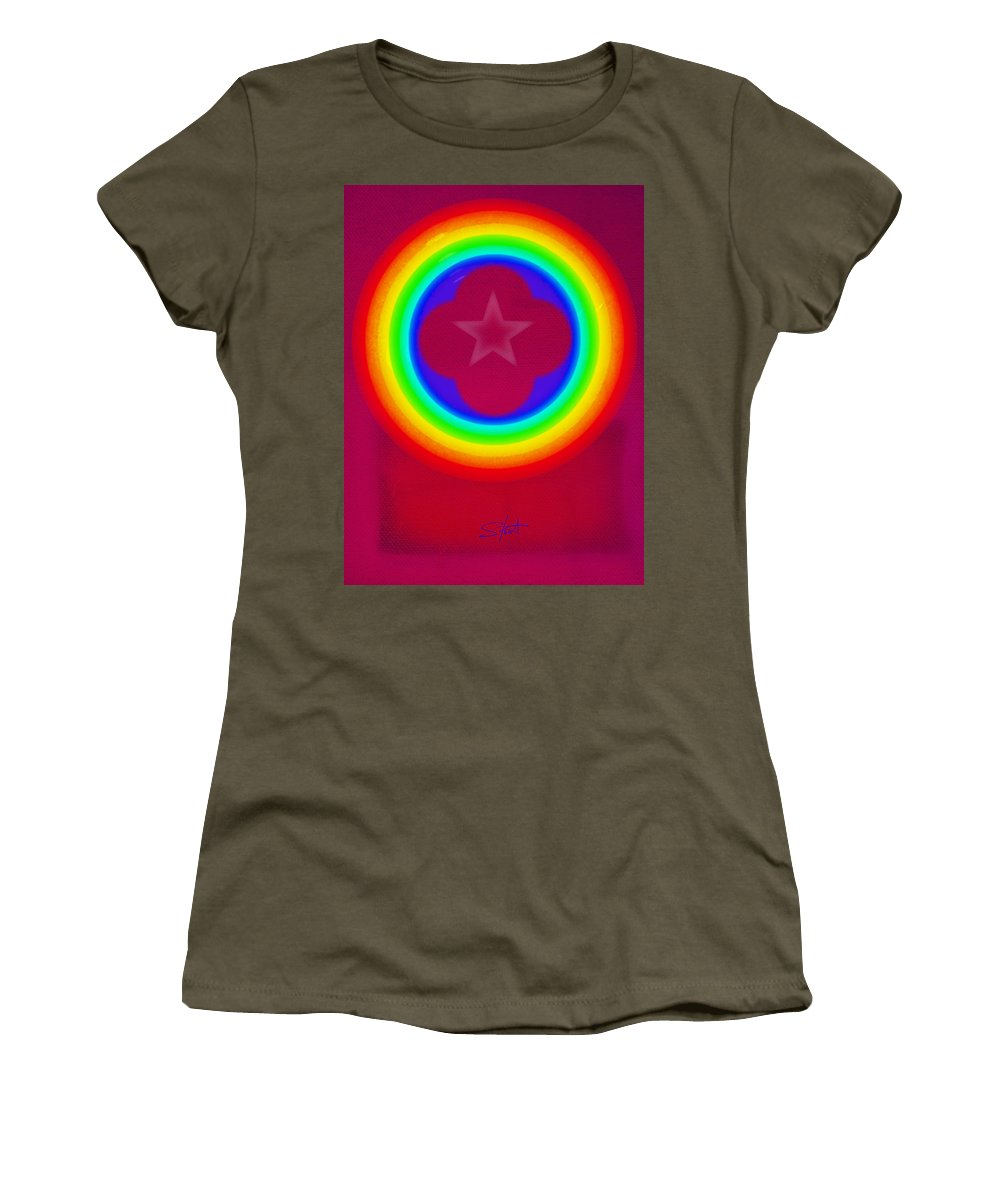 Abstract Women's T-Shirt featuring the painting Logo by Charles Stuart