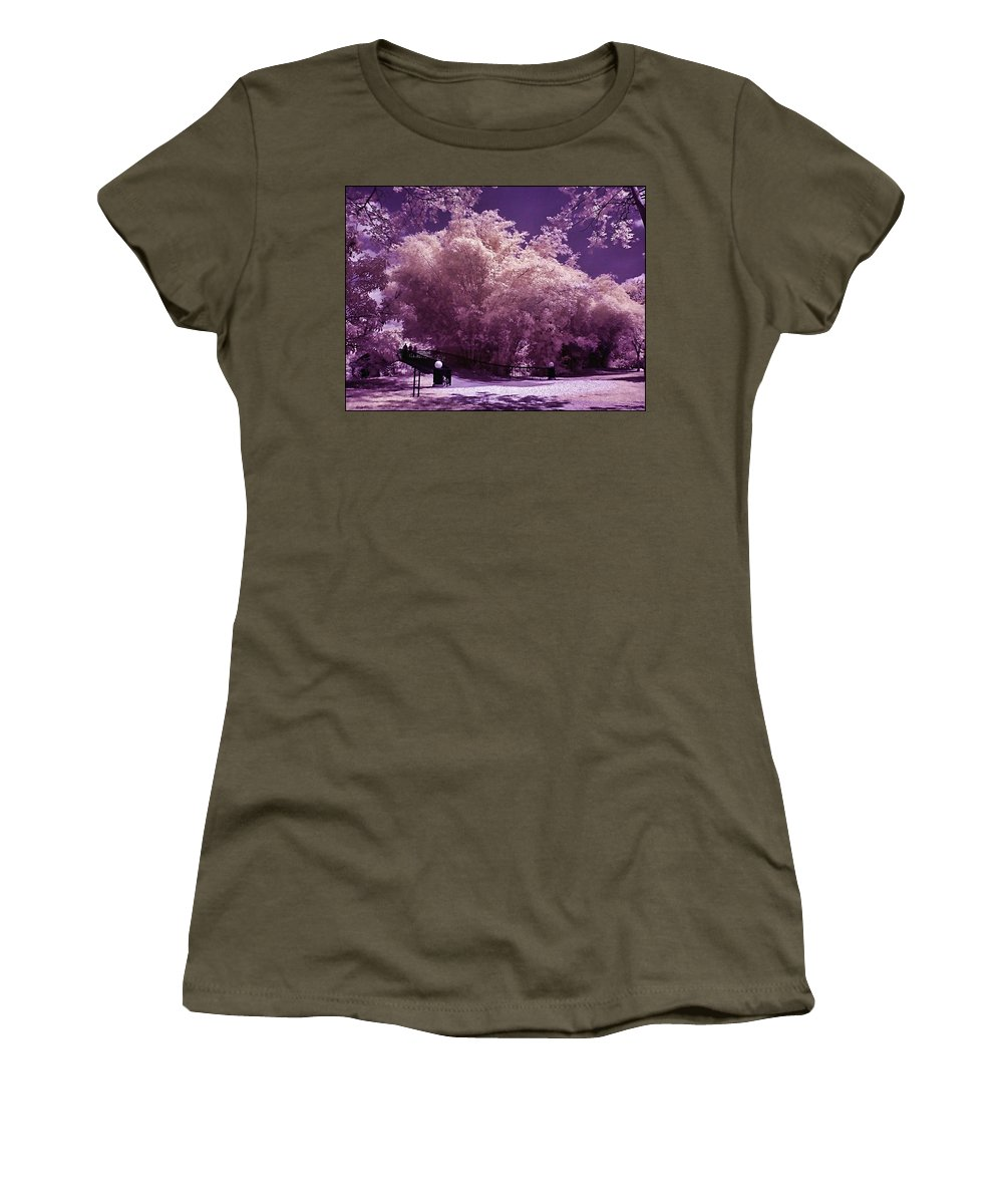 Landscape Women's T-Shirt (Athletic Fit) featuring the photograph Magic Garden by Galeria Trompiz