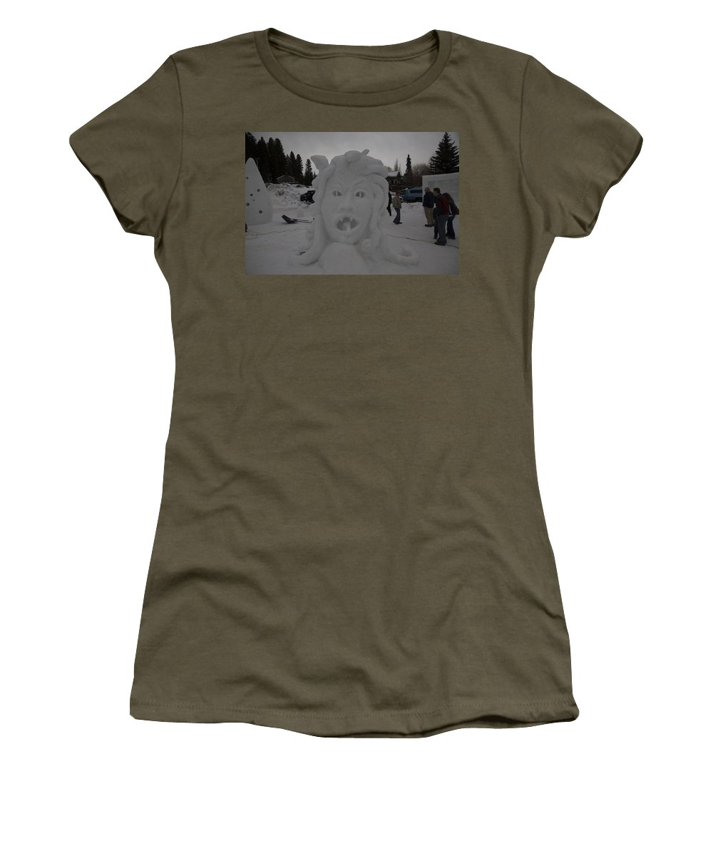 Mccall Women's T-Shirt (Athletic Fit) featuring the photograph Medusa by Angus Hooper Iii