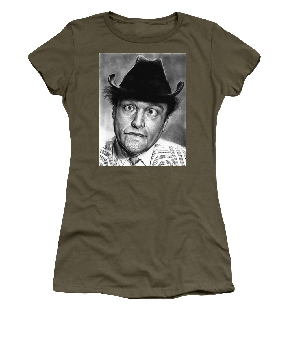 Celebrity Women's T-Shirt featuring the drawing Red Skelton by Greg Joens