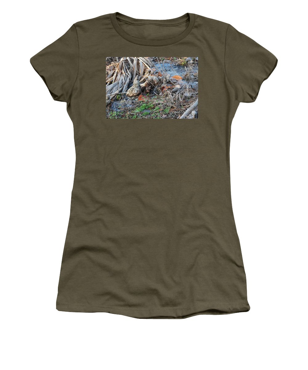 River Women's T-Shirt featuring the photograph Running Water by Rob Hans