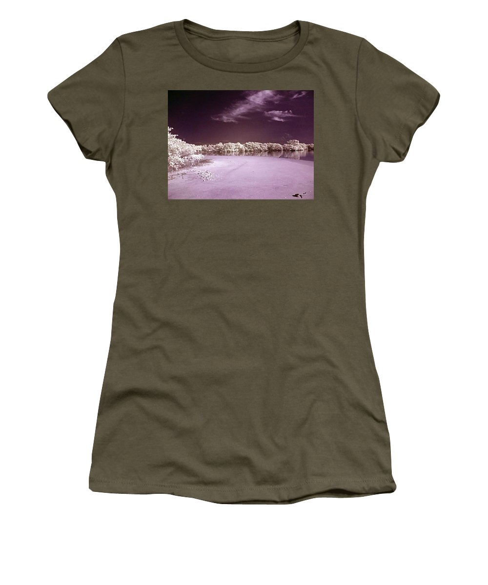 Landscape Women's T-Shirt (Athletic Fit) featuring the photograph Seascape by Galeria Trompiz