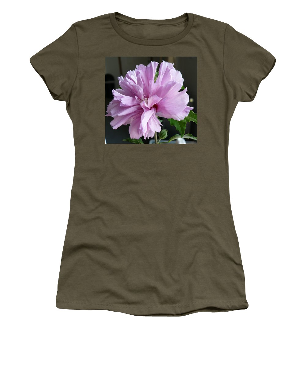 Phoyography.hibiscus Flower Floral Bloom Bush Pink Women's T-Shirt featuring the photograph So Pink by Karin Dawn Kelshall- Best