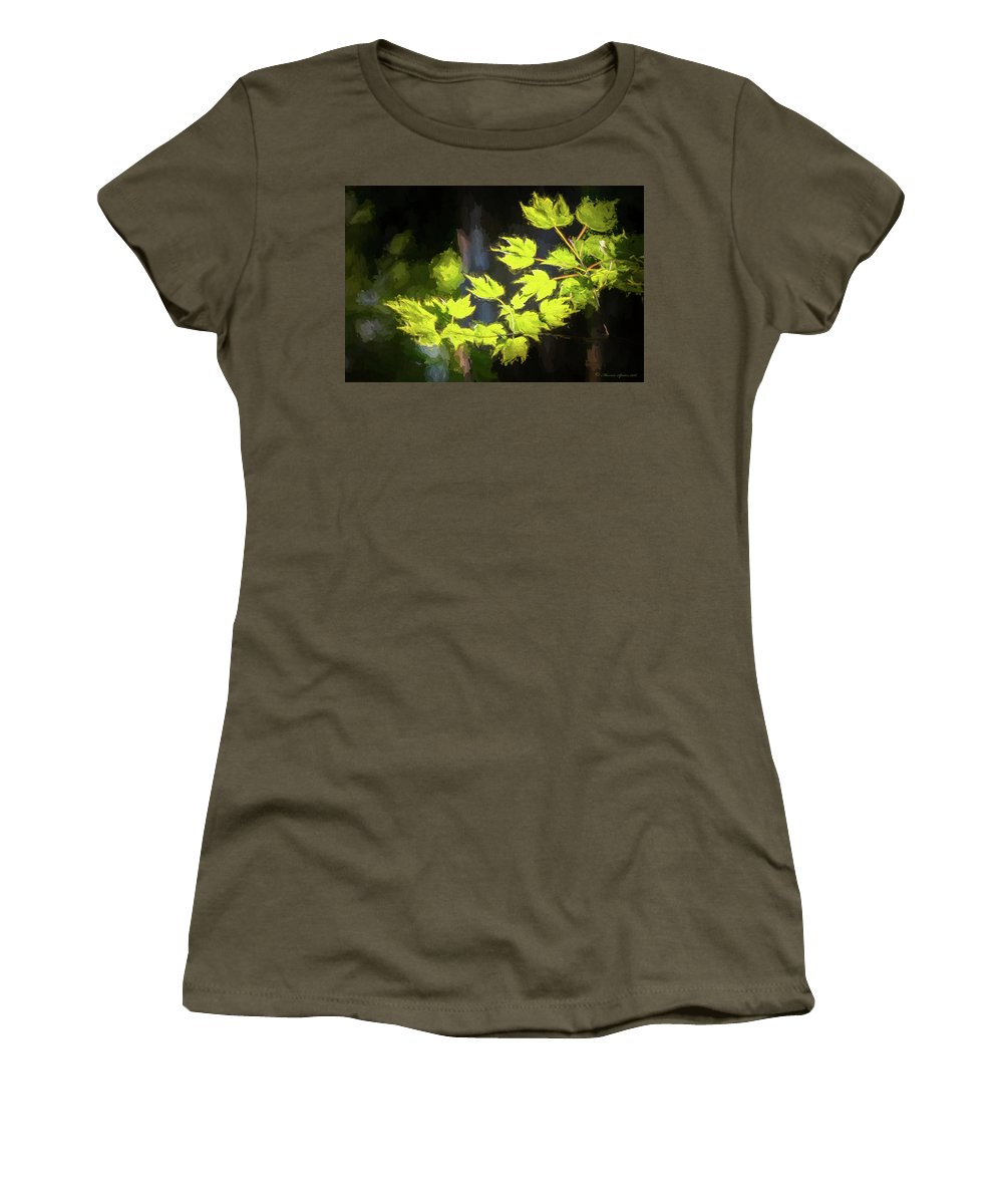 Cypress Trees Women's T-Shirt (Athletic Fit) featuring the photograph Spring Color by Marvin Spates