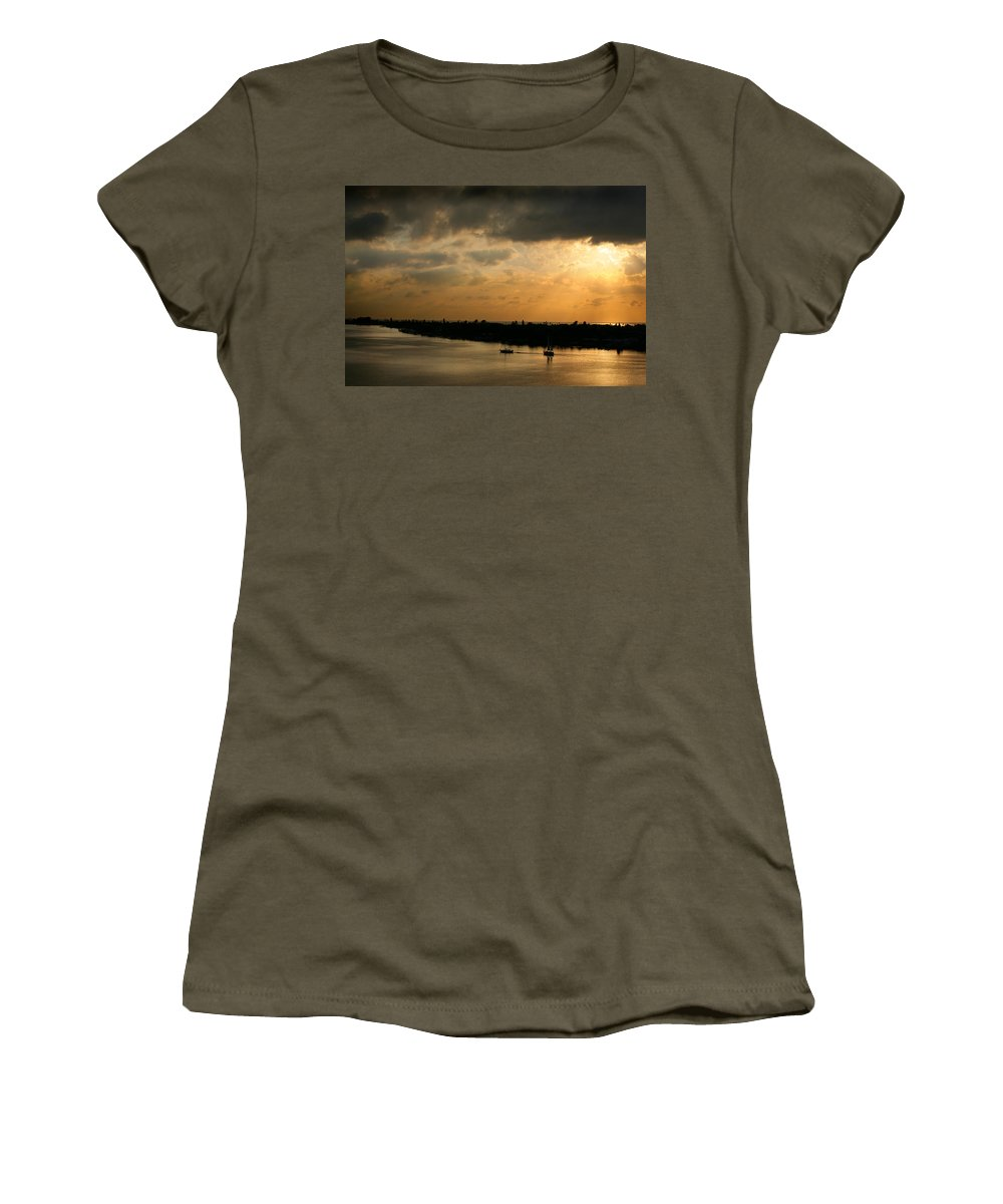 Photograph Women's T-Shirt (Athletic Fit) featuring the photograph Sunset At Pass A Grille Florida by Mal Bray