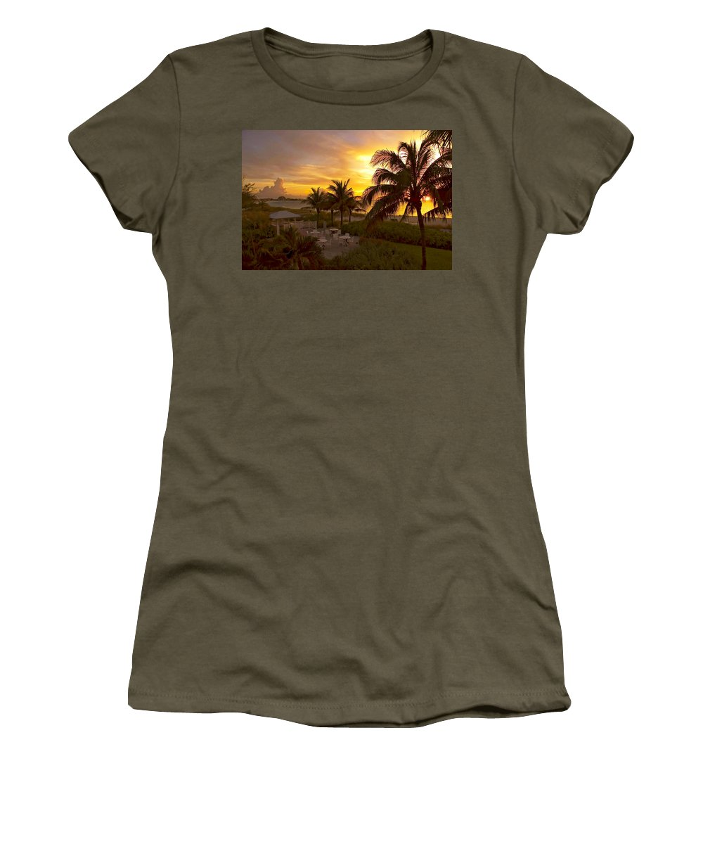 Sunset Women's T-Shirt featuring the photograph Sunset On Grace Bay by Stephen Anderson
