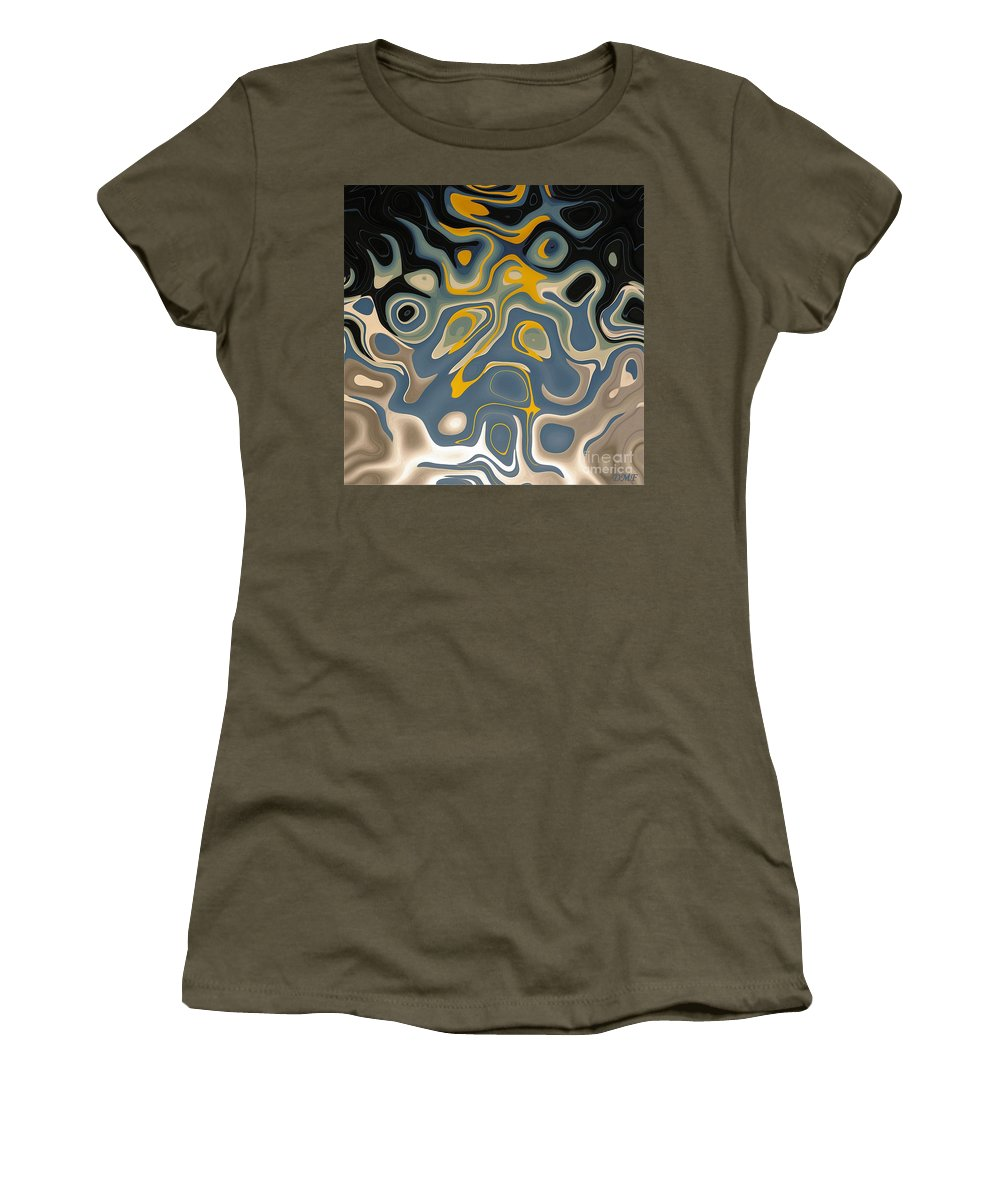 Abstract Digital Painting Fortuna's Digital Art Women's T-Shirt featuring the digital art Suspicion by Dragica Micki Fortuna