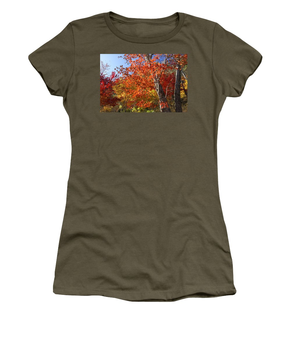 Autumn Women's T-Shirt featuring the photograph The Colors Of Autumn by Michele Burgess