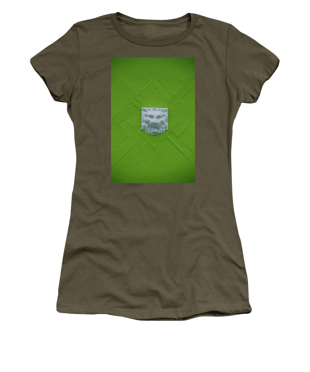 Lion Women's T-Shirt (Athletic Fit) featuring the photograph The Lion by Rob Hans